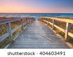 Sunset At Wooden Beach Way ...