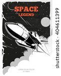 vintage space poster with...   Shutterstock .eps vector #404611399