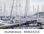 Abstract Of Floating Dock With...