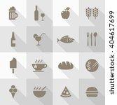 vector flat icon set  ... | Shutterstock .eps vector #404617699