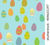 pattern of easter eggs | Shutterstock .eps vector #404621197