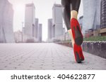 blurred city background and... | Shutterstock . vector #404622877