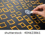 hand drawing circle among... | Shutterstock . vector #404623861