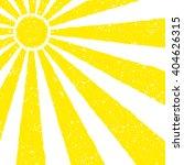 yellow sun background hand