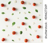 colorful pizza ingredients... | Shutterstock . vector #404627269