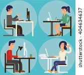 people working at office....   Shutterstock .eps vector #404634637
