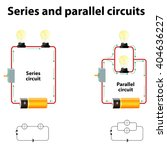 series and parallel circuits. | Shutterstock . vector #404636227
