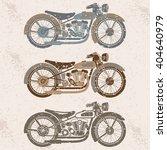 vintage grunge motorcycle set... | Shutterstock .eps vector #404640979