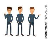 men business. three men on a... | Shutterstock .eps vector #404643841