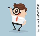 businessman looking through a... | Shutterstock .eps vector #404652541