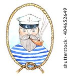 the bearded sailor in the... | Shutterstock . vector #404652649