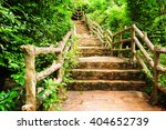 Stone Stairs Among Green...