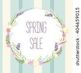 spring sale banner poster... | Shutterstock .eps vector #404659015