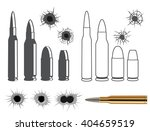 bullets and bullet holes | Shutterstock .eps vector #404659519