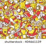 graffiti seamless pattern with... | Shutterstock .eps vector #404661139