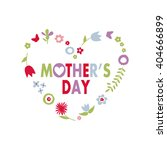 mother's day greeting card | Shutterstock .eps vector #404666899