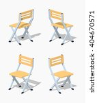 folding chair. 3d lowpoly... | Shutterstock .eps vector #404670571