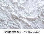 top view of bedding sheets  | Shutterstock . vector #404670661