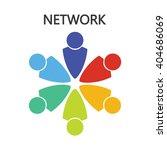 vector network logo design... | Shutterstock .eps vector #404686069