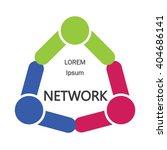 vector network logo design...   Shutterstock .eps vector #404686141