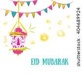 colorful ramadan kareem... | Shutterstock . vector #404689924