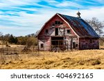 Rural Oklahoma Farmland With...