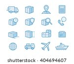 parcel delivery service icon... | Shutterstock .eps vector #404694607