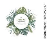 tropical palm leaves. jungle... | Shutterstock .eps vector #404697847