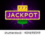 retro banner of jackpot with... | Shutterstock .eps vector #404698549