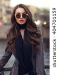 fashionable glamorous girl with ...   Shutterstock . vector #404701159