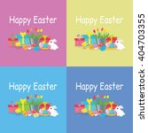 brochure flyer layout easter... | Shutterstock . vector #404703355