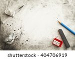 paper with pencil  eraser ... | Shutterstock . vector #404706919