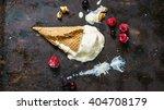 Fallen Vanilla Ice Cream In A...