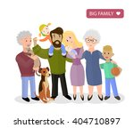 big happy family. parents with... | Shutterstock . vector #404710897