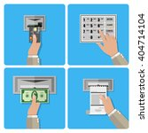 atm terminal usage concept in... | Shutterstock .eps vector #404714104