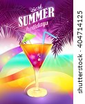 cocktail. beach. caribbean.... | Shutterstock .eps vector #404714125
