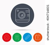 vintage photo camera icon....   Shutterstock .eps vector #404716831