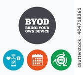 byod sign icon. bring your own... | Shutterstock . vector #404718361