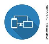 flat white responsive media... | Shutterstock .eps vector #404720887
