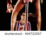 a man watching an erotic dancer | Shutterstock . vector #404722507