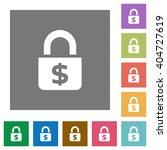 locked money flat icon set on...