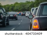 Traffic Jam With Row Of Cars O...