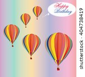 air ballons happy birthday... | Shutterstock .eps vector #404738419