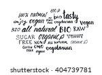 set of different hand written... | Shutterstock .eps vector #404739781