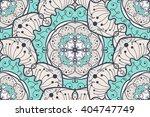 hand drawn mandala seamless... | Shutterstock .eps vector #404747749