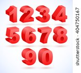 set of vector numbers  from 1... | Shutterstock .eps vector #404750167