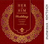 wedding invitation or card with ... | Shutterstock .eps vector #404751424