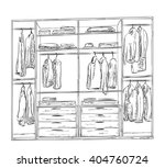 hand drawn wardrobe sketch.... | Shutterstock .eps vector #404760724