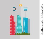smart city vector design ... | Shutterstock .eps vector #404763655