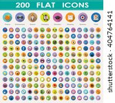 200 flat icons collection. | Shutterstock .eps vector #404764141